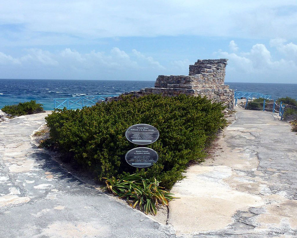 ruins of the Ixchel temple