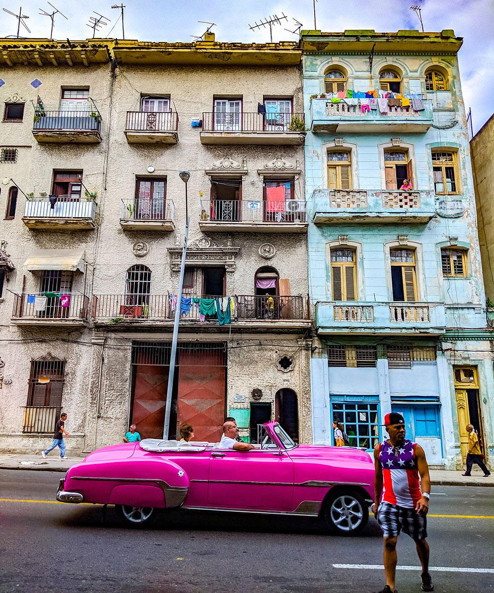 a typical Havana street scene