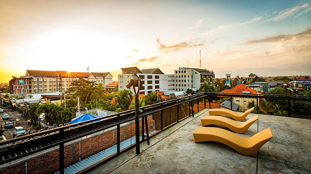a centrally located hostel in Bali