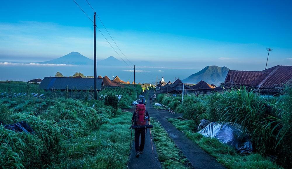 a traveler in Indonesia