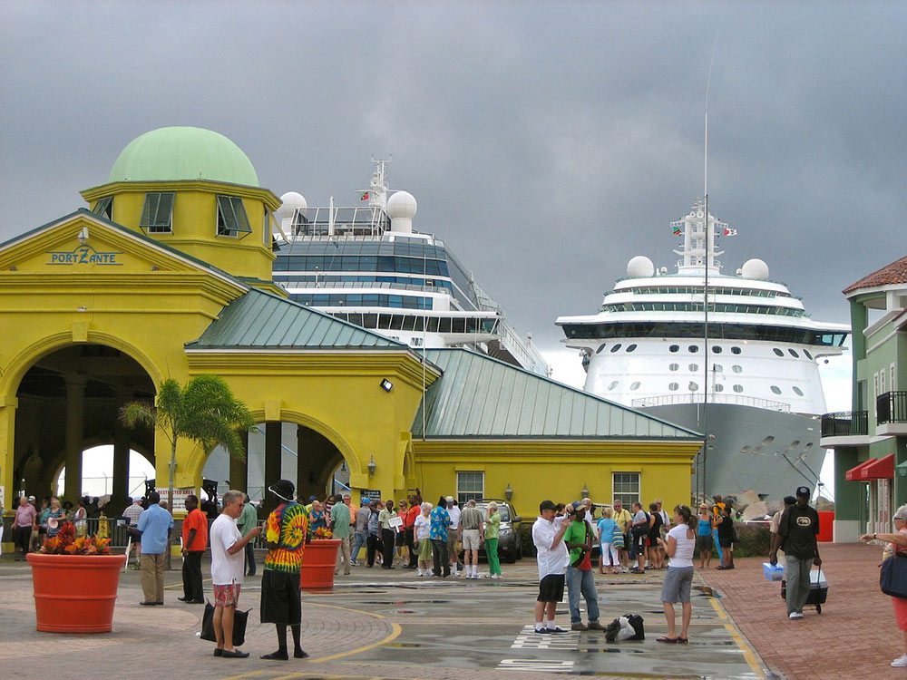 the cruise terminal in Saint Kitts
