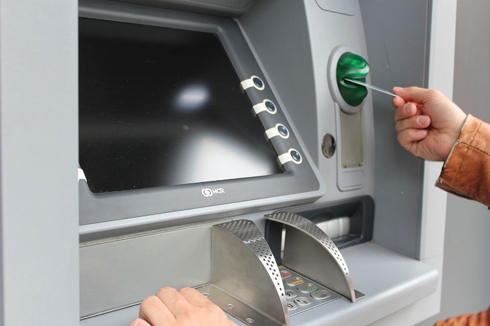 getting money from an ATM