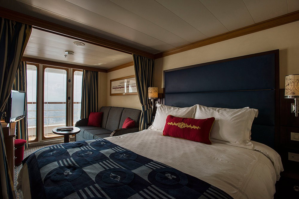 a room on a Disney Cruise
