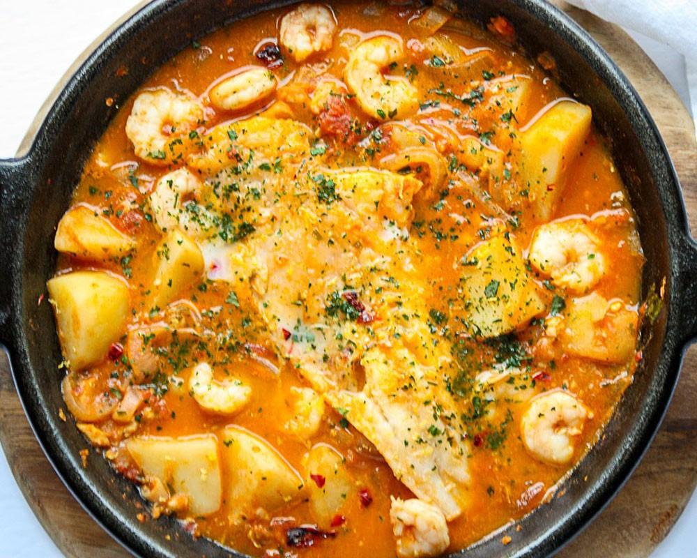 homemade Spanish fish stew