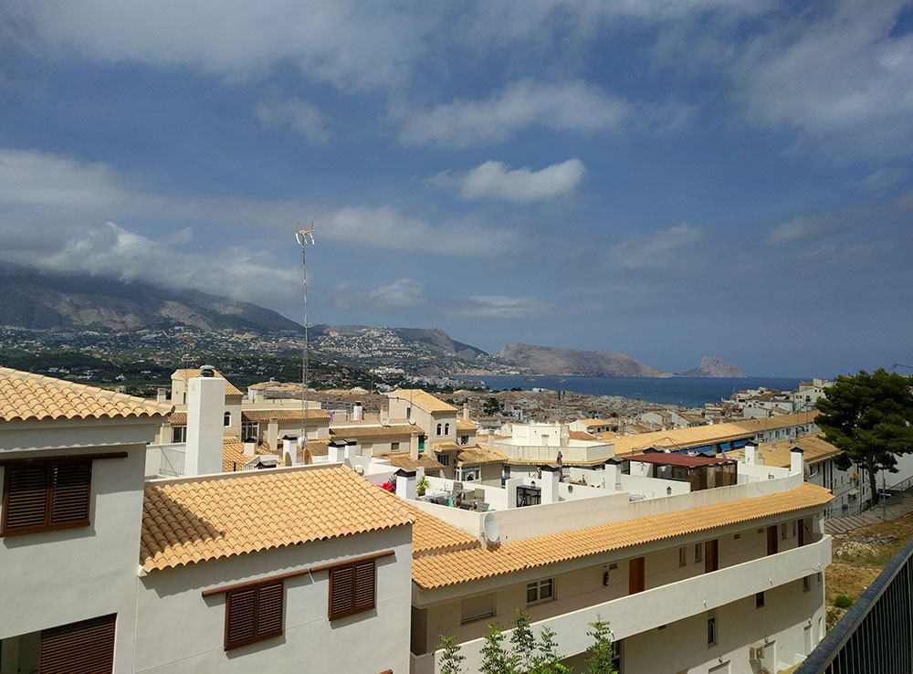 a view over the town of Altea