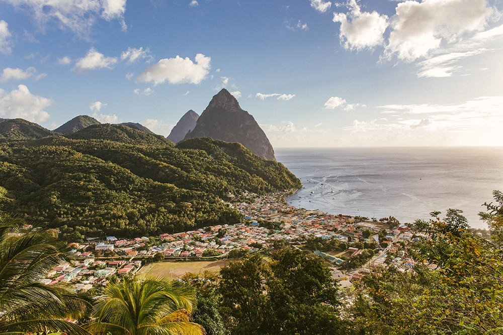 View of St Lucia, one of the best dive locations in the Caribbean