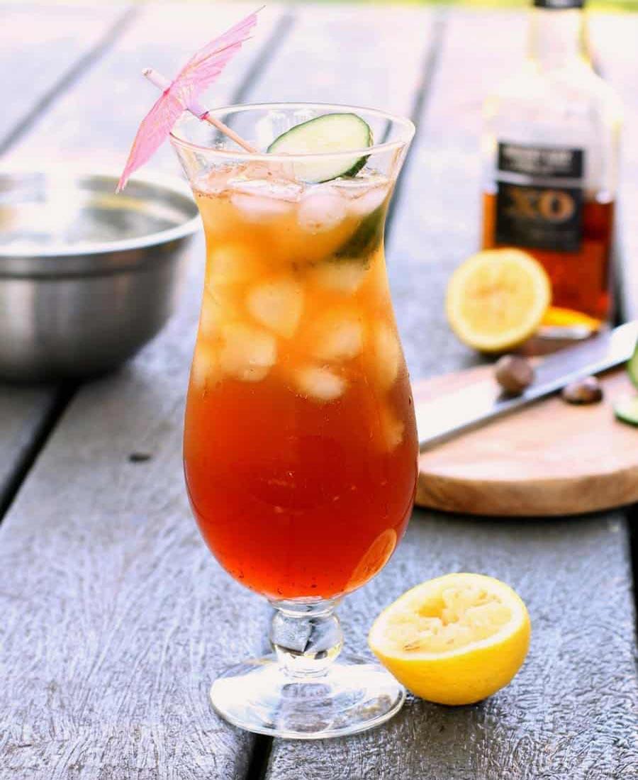 a Caribbean rum punch
