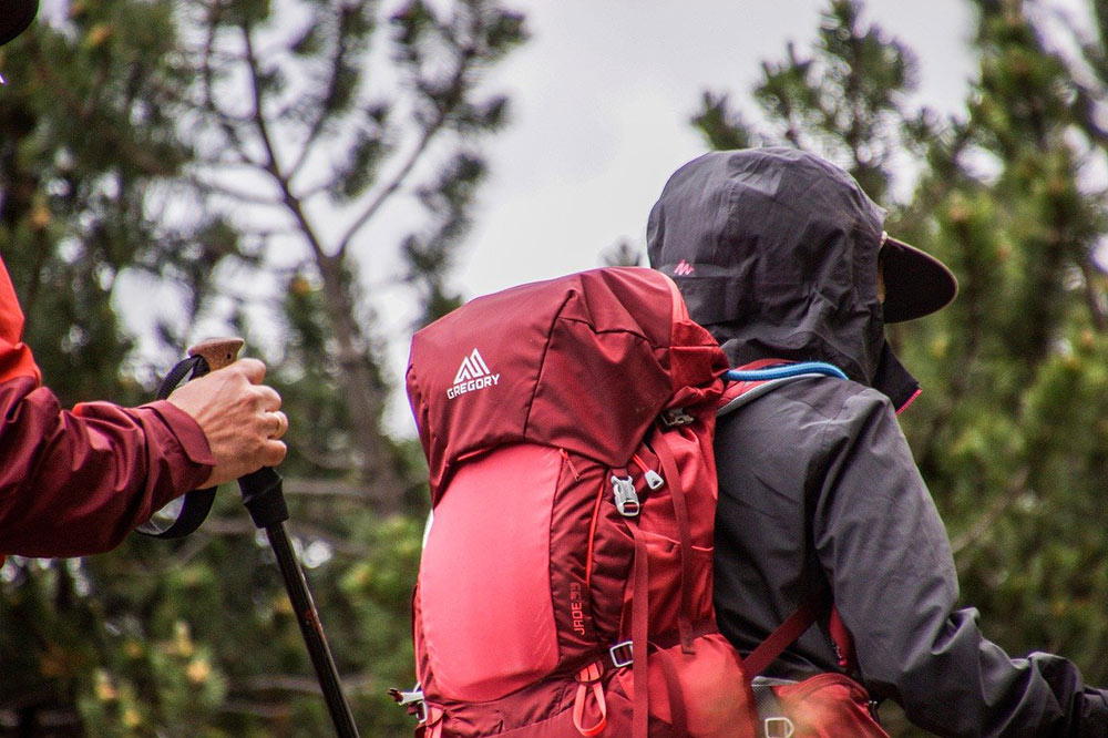 a well fitting backpack, a hiking essential