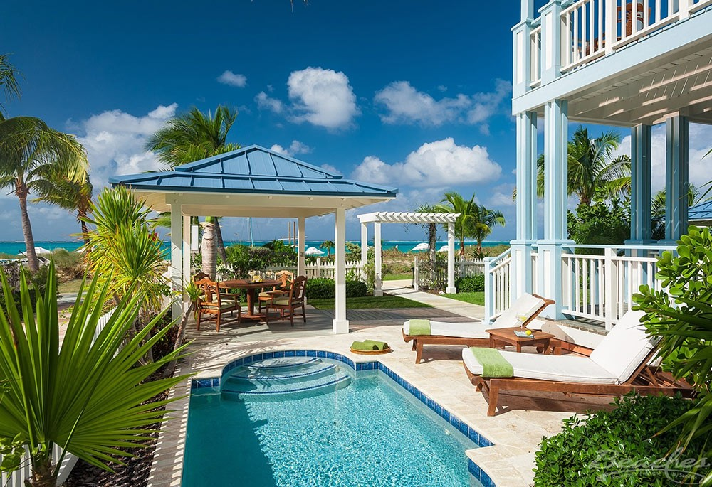 a luxury villa in Turks and Caicos