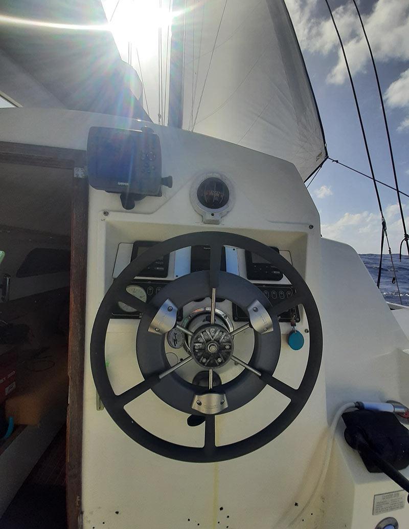 autopilot on a 36ft catamaran