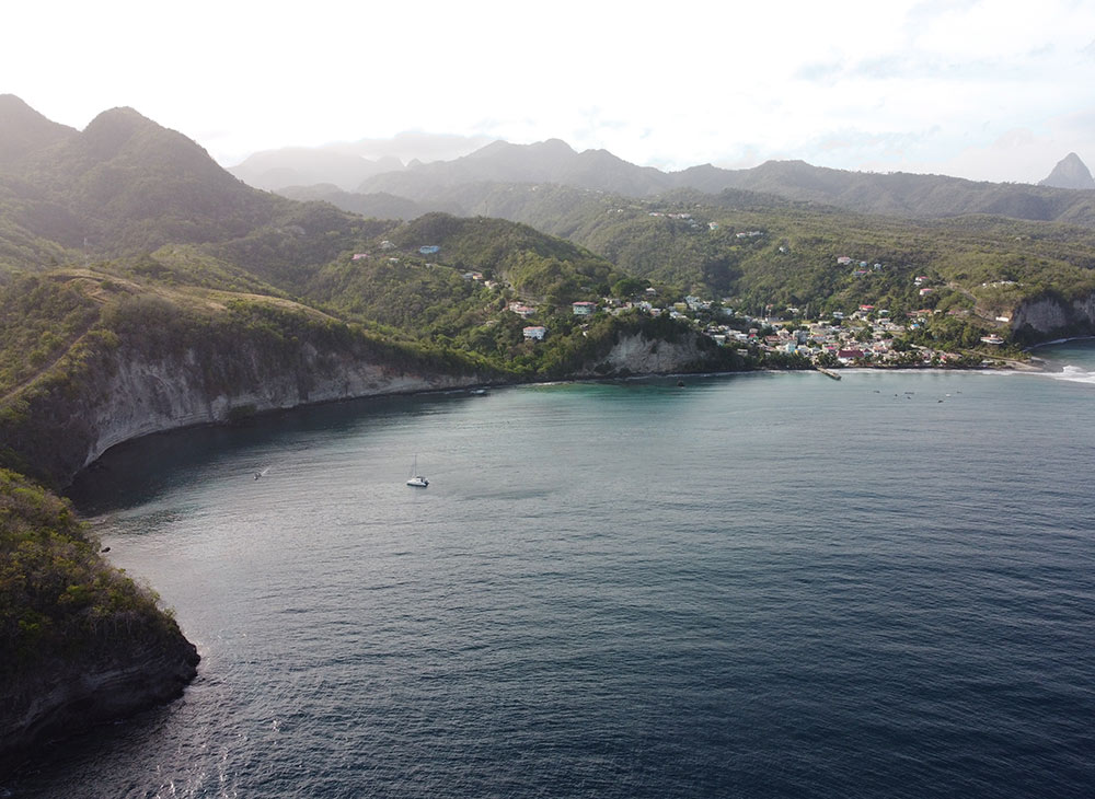 aerial view of Canaries anchorage