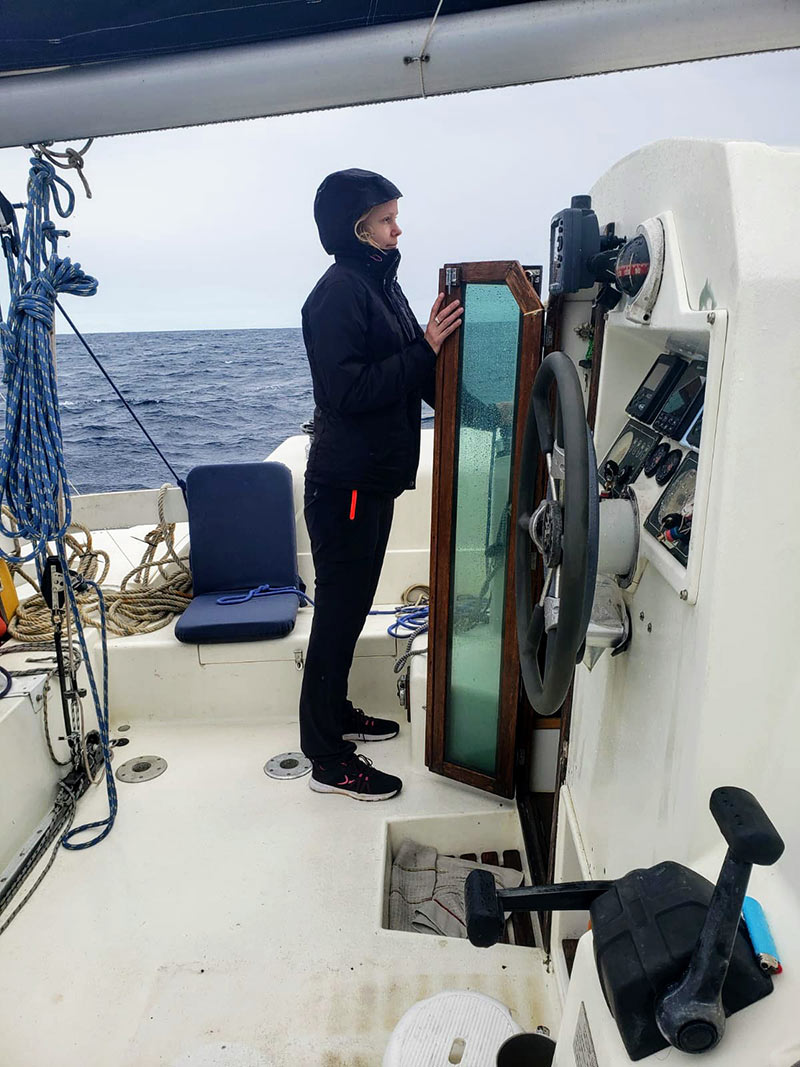 me feeling cold and nauseous sailing to the Caribbean