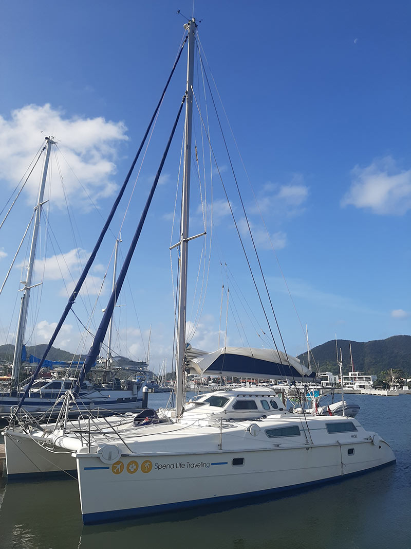 our catamaran after we sailed to the Caribbean