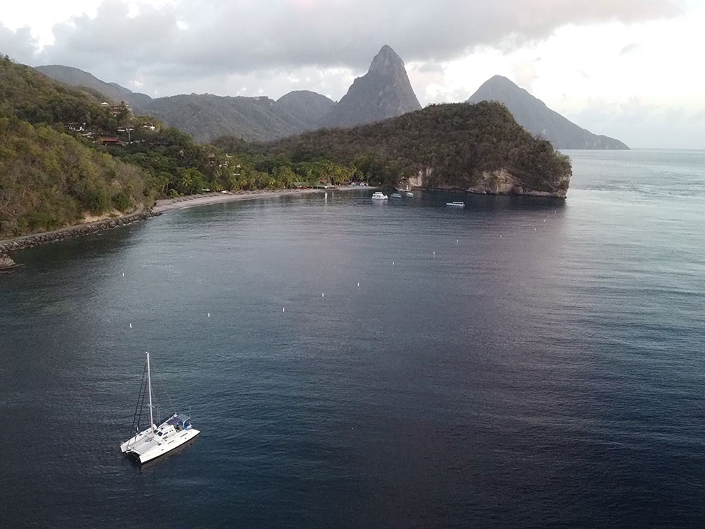 sailing around Saint Lucia