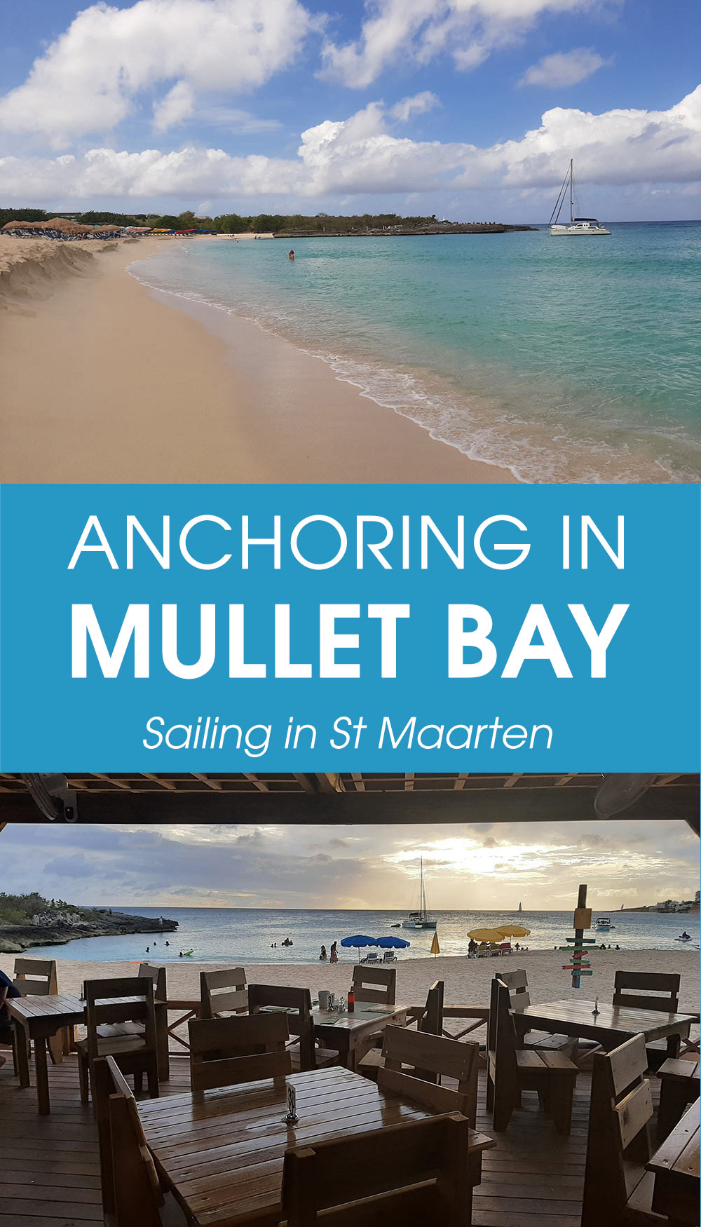 Anchoring in Mullet Bay while sailing in St Maarten