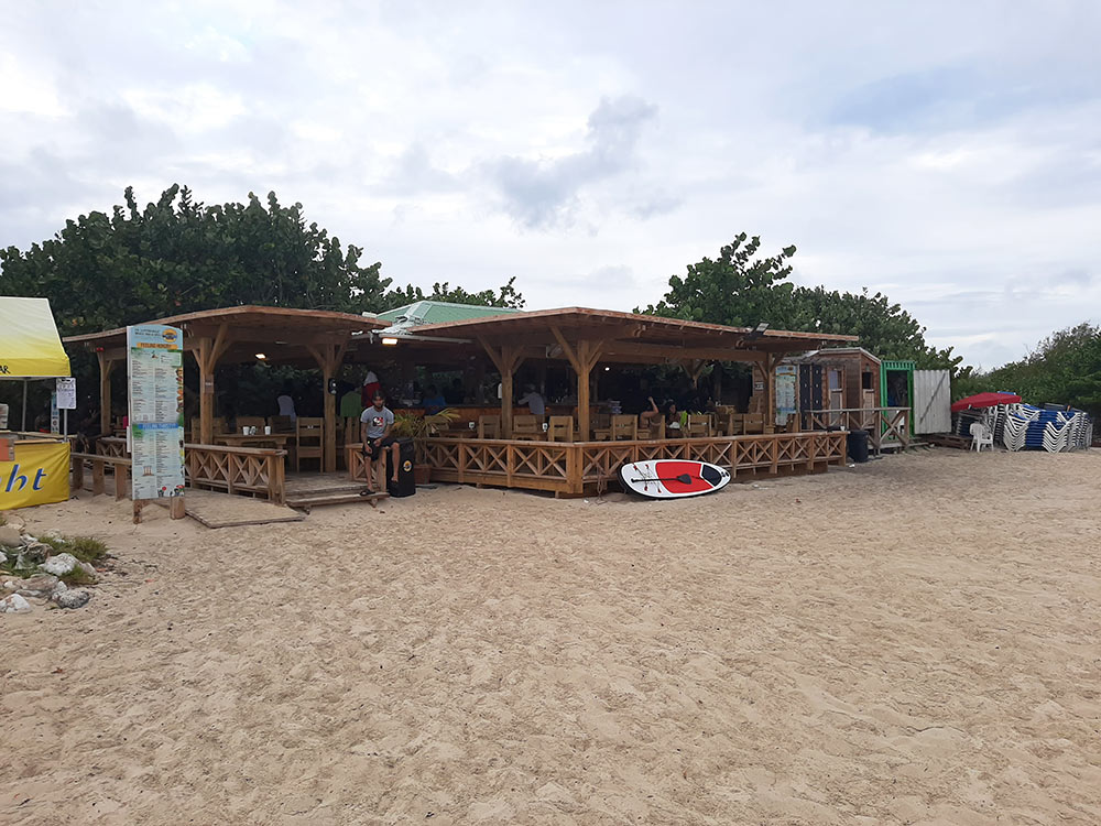 one of the beach bars on Mullet Beach