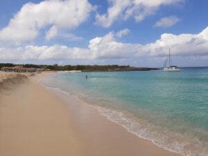 anchoring in Mullet Bay, St Maarten