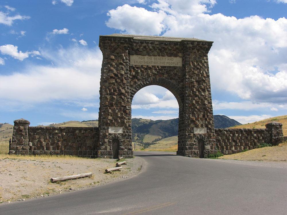 The Roosevelt Arch in Gardiner