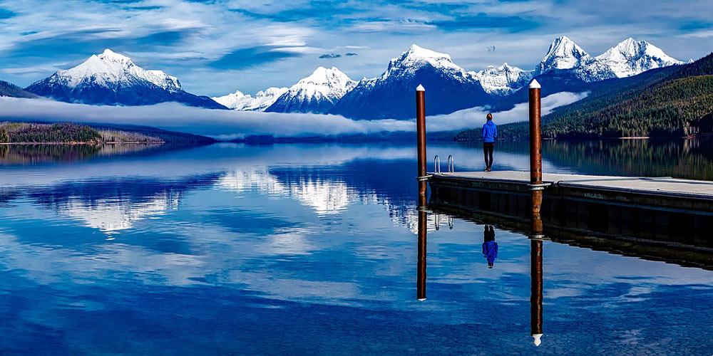 Lake McDonald inside Glacier National Park